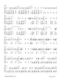 Symphony-Clean Bandit,Zara Larsson両手略譜プレビュー2