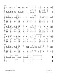Symphony-Clean Bandit,Zara Larsson両手略譜プレビュー3