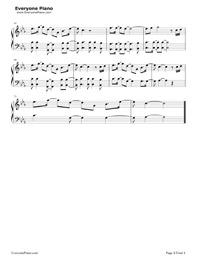 Symphony-Clean Bandit,Zara Larsson五線譜プレビュー4