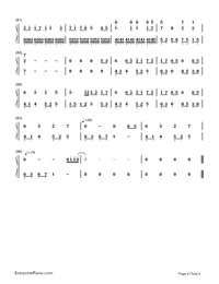 Snow Between the Eyebrows-Legend of the Swordman online Ⅲ-Numbered-Musical-Notation-Preview-4