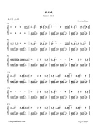 Puppet Show-Rachel,Aki-Numbered-Musical-Notation-Preview-1