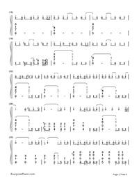 神のまにまに-初音ミク, 鏡音リン, GUMI両手略譜プレビュー2