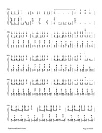 神のまにまに-初音ミク, 鏡音リン, GUMI両手略譜プレビュー3