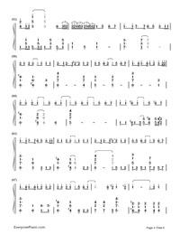 神のまにまに-初音ミク, 鏡音リン, GUMI両手略譜プレビュー4