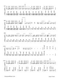 神のまにまに-初音ミク, 鏡音リン, GUMI両手略譜プレビュー6