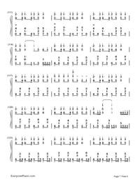 神のまにまに-初音ミク, 鏡音リン, GUMI両手略譜プレビュー7