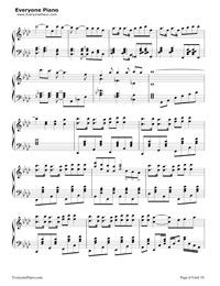 神のまにまに-初音ミク, 鏡音リン, GUMI五線譜プレビュー6
