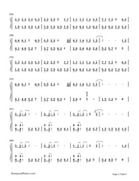 A Little Sweet-Cute Three Kingdoms theme-Numbered-Musical-Notation-Preview-2