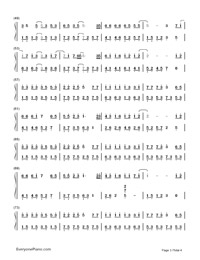 A Little Sweet-Cute Three Kingdoms theme-Numbered-Musical-Notation-Preview-3