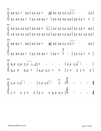 A Little Sweet-Cute Three Kingdoms theme-Numbered-Musical-Notation-Preview-4