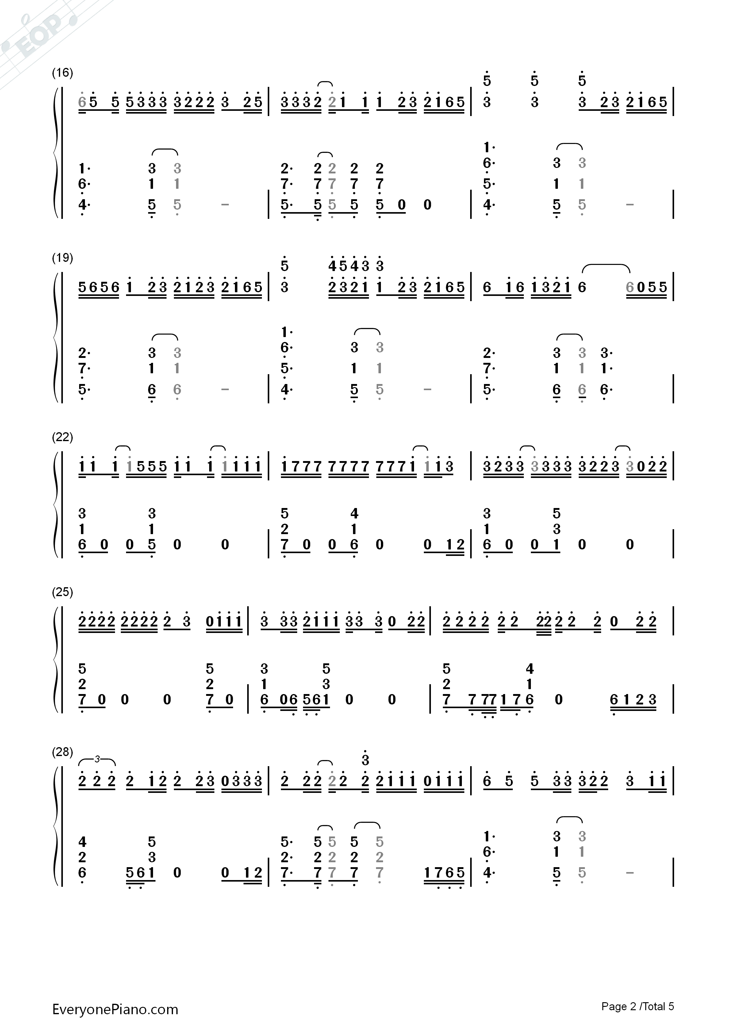Galway girl ed sheeran numbered musical notation preview 2 free listen now print sheet galway girl ed sheeran numbered musical notation preview 2 hexwebz Images