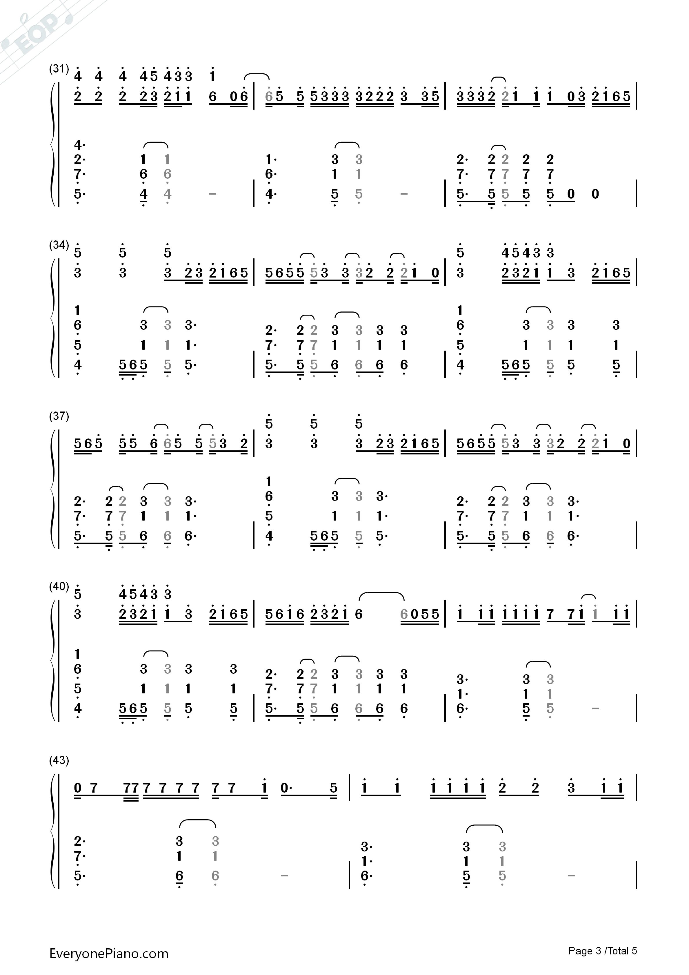 Galway girl ed sheeran numbered musical notation preview 3 free listen now print sheet galway girl ed sheeran numbered musical notation preview 3 hexwebz Images