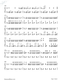 La Bicicleta-Carlos Vives ft. Shakira-Numbered-Musical-Notation-Preview-3