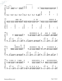 La Bicicleta-Carlos Vives ft. Shakira-Numbered-Musical-Notation-Preview-4