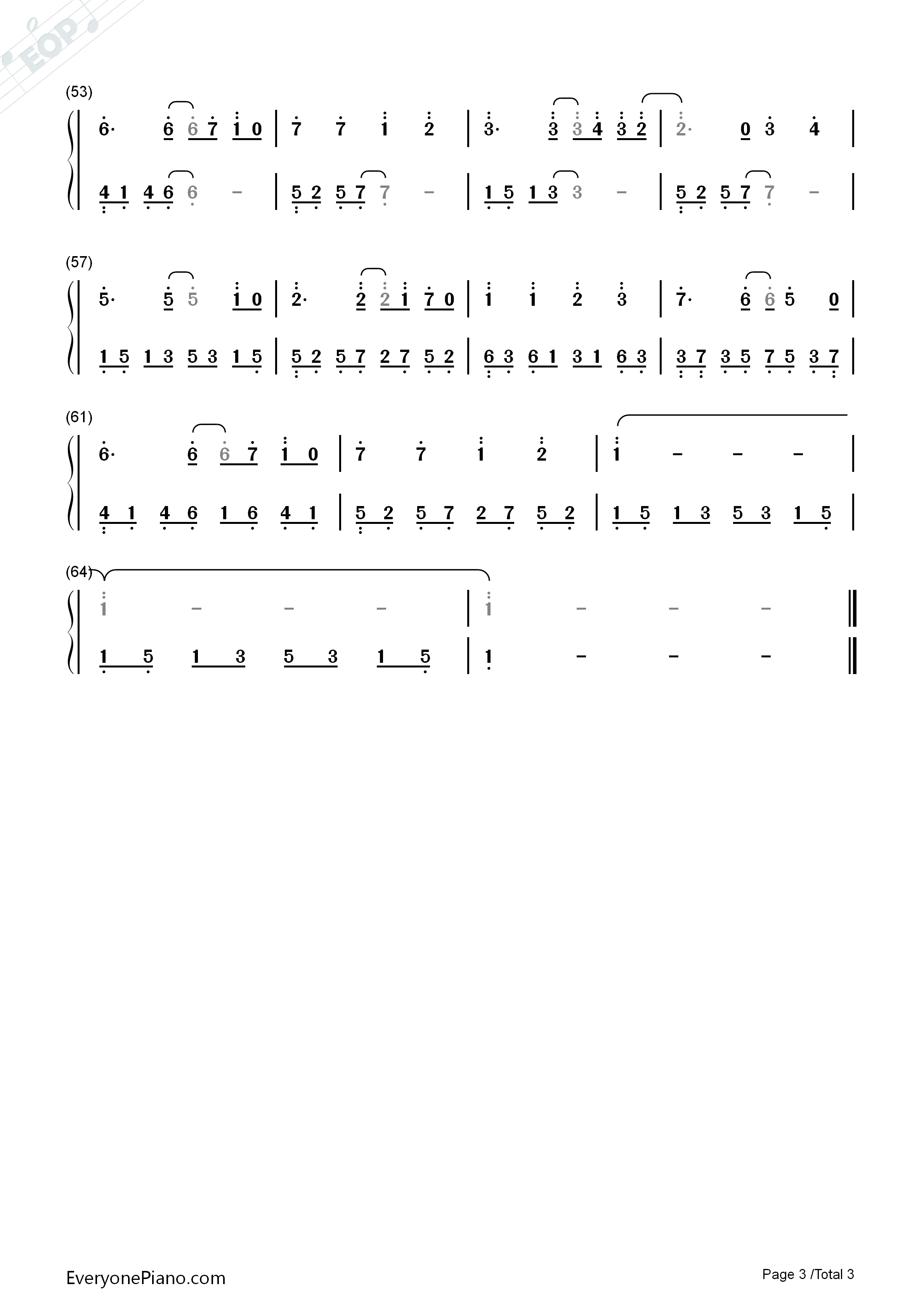 Estavius-Epic Battle Fantasy OST Numbered Musical Notation Preview 3