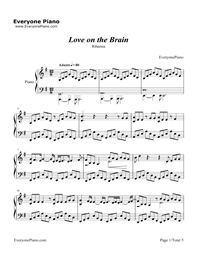 Love on the Brain-Rihanna Stave Preview 1