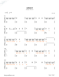 Animal World-Numbered-Musical-Notation-Preview-1