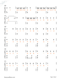 Animal World-Numbered-Musical-Notation-Preview-2