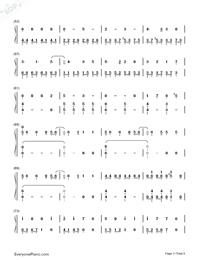 Usotsuki no Parade-Parade of Liars-Numbered-Musical-Notation-Preview-3