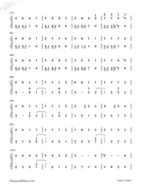 Usotsuki no Parade-Parade of Liars-Numbered-Musical-Notation-Preview-4