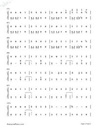 Usotsuki no Parade-Parade of Liars-Numbered-Musical-Notation-Preview-4