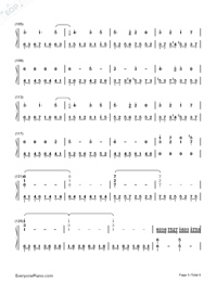 Usotsuki no Parade-Parade of Liars-Numbered-Musical-Notation-Preview-5