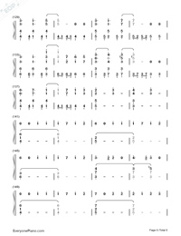 Usotsuki no Parade-Parade of Liars-Numbered-Musical-Notation-Preview-6