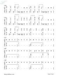 Usotsuki no Parade-Parade of Liars-Numbered-Musical-Notation-Preview-6