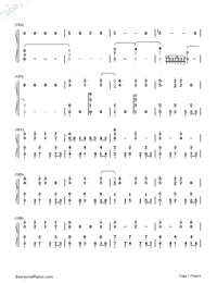 Usotsuki no Parade-Parade of Liars-Numbered-Musical-Notation-Preview-7