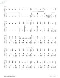 Usotsuki no Parade-Parade of Liars-Numbered-Musical-Notation-Preview-7