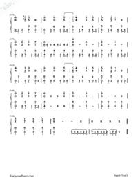Usotsuki no Parade-Parade of Liars-Numbered-Musical-Notation-Preview-8