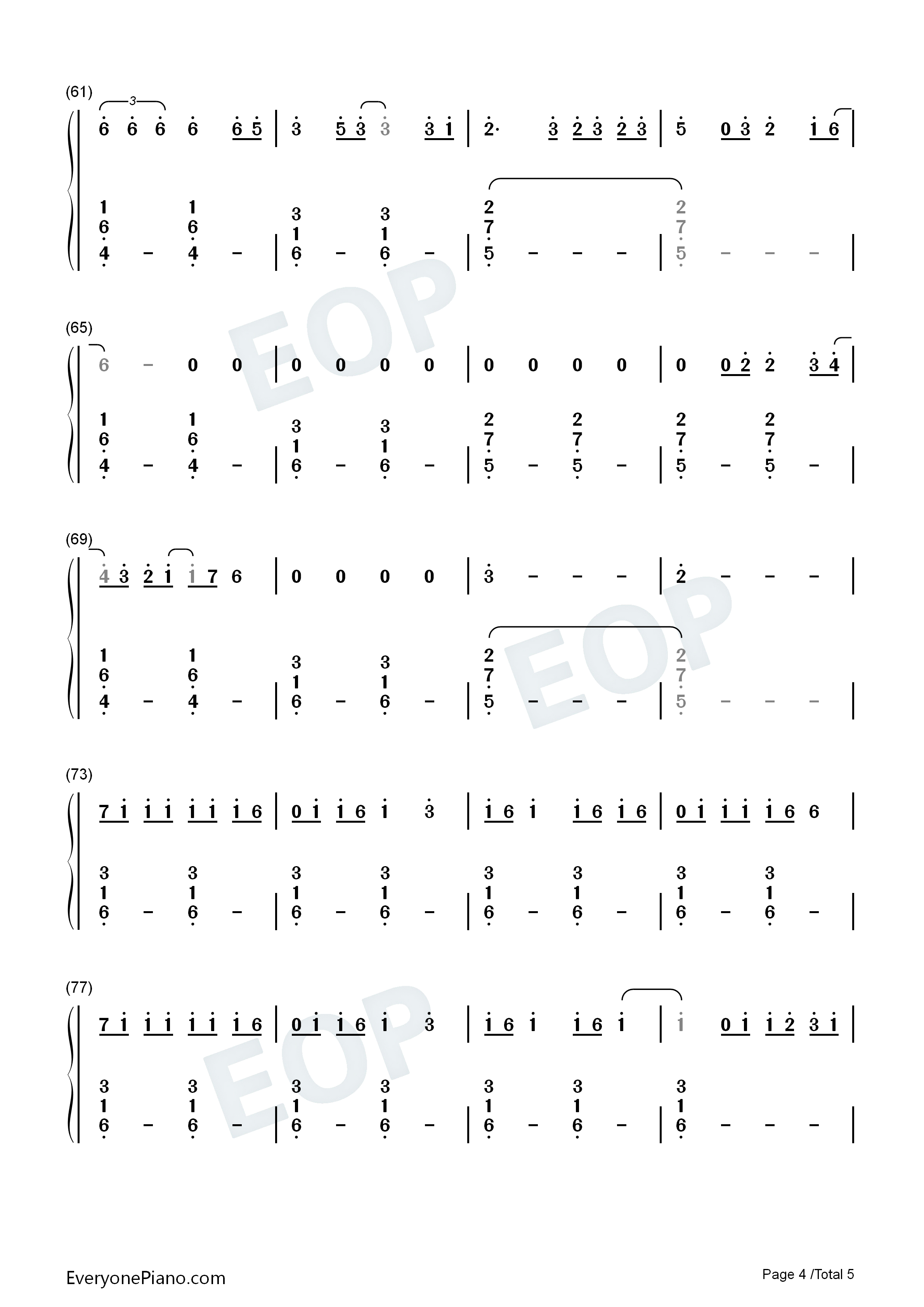 Dream It Possible Numbered Musical Notation Preview 4