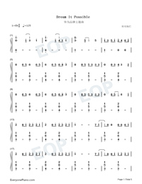 Dream It Possible-Numbered-Musical-Notation-Preview-1