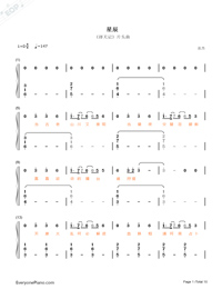 Stars-Fighter of the Destiny OP-Numbered-Musical-Notation-Preview-1