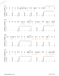 Stars-Fighter of the Destiny OP-Numbered-Musical-Notation-Preview-2