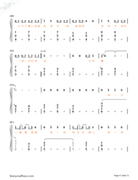 Stars-Fighter of the Destiny OP-Numbered-Musical-Notation-Preview-4