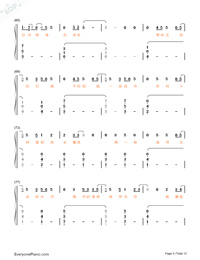 Stars-Fighter of the Destiny OP-Numbered-Musical-Notation-Preview-5