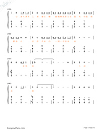 Stars-Fighter of the Destiny OP-Numbered-Musical-Notation-Preview-9