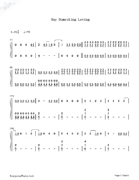 Say Something Loving-The XX-Numbered-Musical-Notation-Preview-1