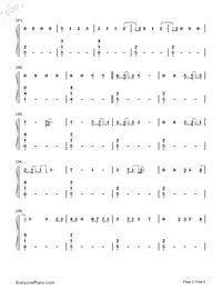 Say Something Loving-The XX-Numbered-Musical-Notation-Preview-2