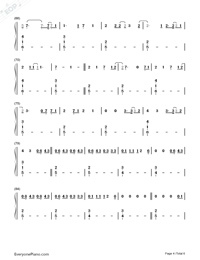 Say Something Loving-The XX-Numbered-Musical-Notation-Preview-4