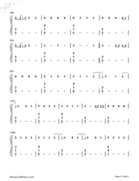 Say Something Loving-The XX-Numbered-Musical-Notation-Preview-5