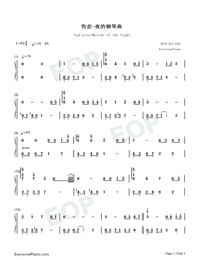 Sad Love-Melody of the Night-Numbered-Musical-Notation-Preview-1