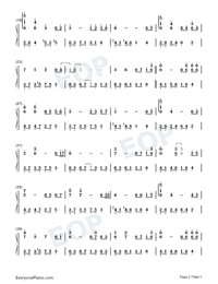 Sad Love-Melody of the Night-Numbered-Musical-Notation-Preview-2