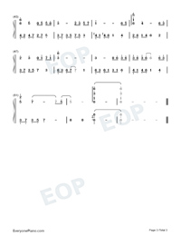 Sad Love-Melody of the Night-Numbered-Musical-Notation-Preview-3
