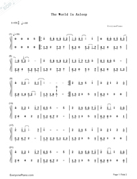 The World Is Asleep-Numbered-Musical-Notation-Preview-1