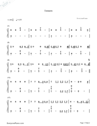 Issues-Julia Michaels-Numbered-Musical-Notation-Preview-1