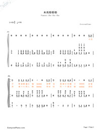 Papaya Cha Cha Cha-Numbered-Musical-Notation-Preview-1