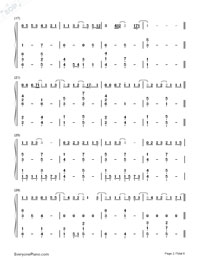 Supermarket Flowers-Ed Sheeran-Numbered-Musical-Notation-Preview-2
