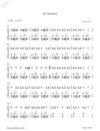 No Vacancy-OneRepublic-Numbered-Musical-Notation-Preview-1
